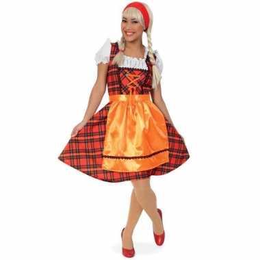 Oktoberfest foute kleding met schotse ruit