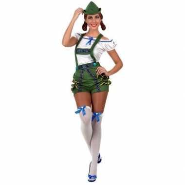 Oktoberfest sexy oktoberfest pak/foute kleding groen voor dames
