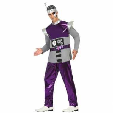Paars robot foute kleding voor heren