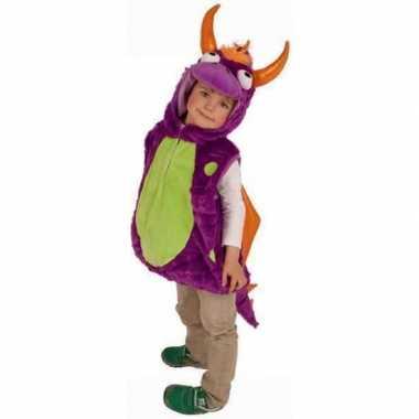 Paarse drakenfoute kleding voor kinderen