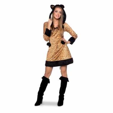 Panter dierenfoute kleding jurkje voor dames