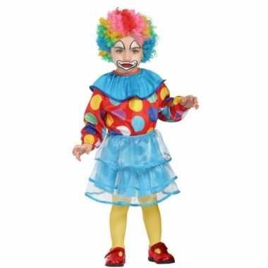 Peuter meisjes foute kleding clown