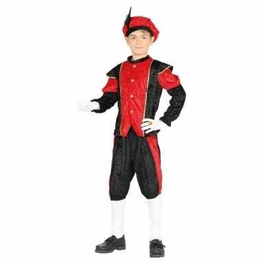 Pieten foute kleding zwart/rood voor jongens/meisjes