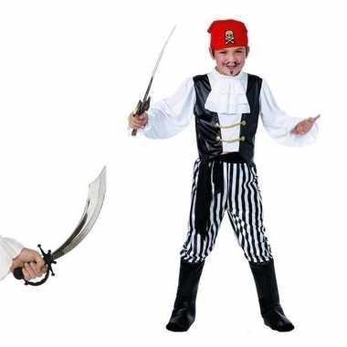 Piraten foute kleding maat l met zwaard voor kids