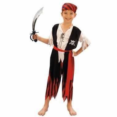 Piraten foute kleding maat m met zwaard voor kinderen