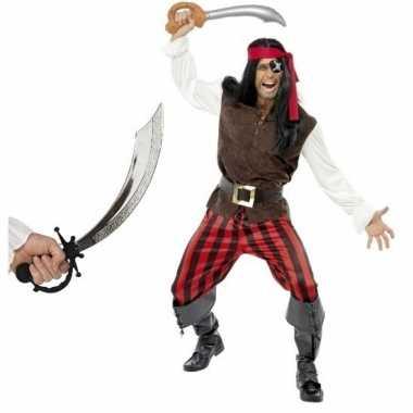 Piraten foute kleding met zwaard maat l voor volwassenen
