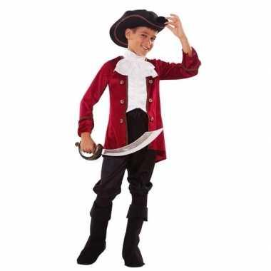 Piraten foute kleding rood/zwart voor jongens