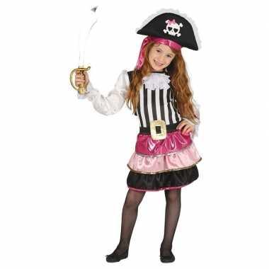 Piraten foute kleding roze voor meisjes