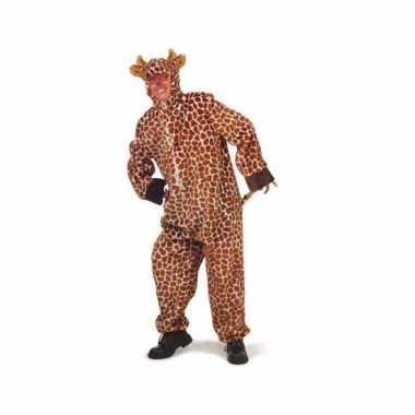Pluche giraffe foute kleding