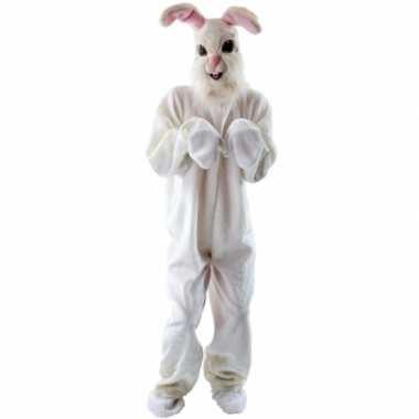Pluche konijn foute kleding voor volwassenen