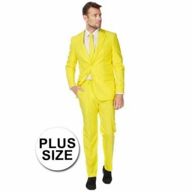 Plus size heren foute kleding geel