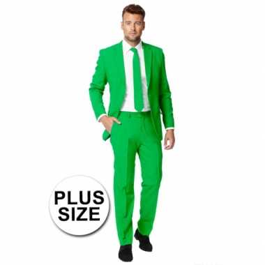 Plus size heren foute kleding groen
