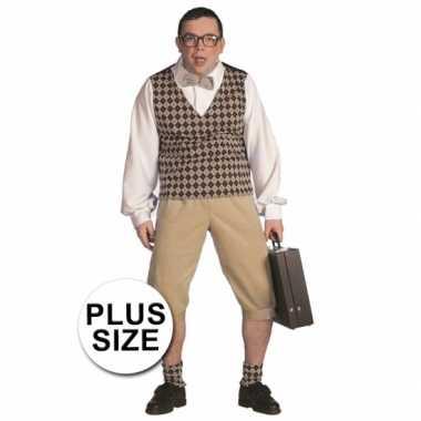Plus size nerd foute kleding heren