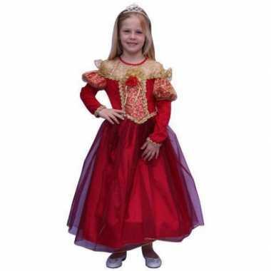 Prinsessen foute kleding voor meisjes in de kleur rood
