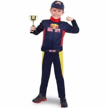 Race/formule 1 foute kleding met beker voor jongens