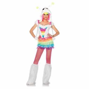 Regenboog gekleurd foute kleding voor dames
