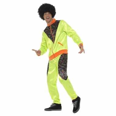Retro trainingspak foute kleding neon groen