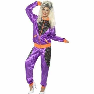 Retro trainingspak foute kleding paars