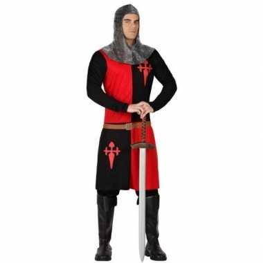 Ridder foute kleding zwart/rood voor heren