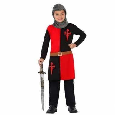 Ridder pak/ foute kleding rood voor jongens