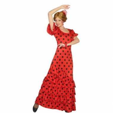 Rode spaanse foute kleding jurk