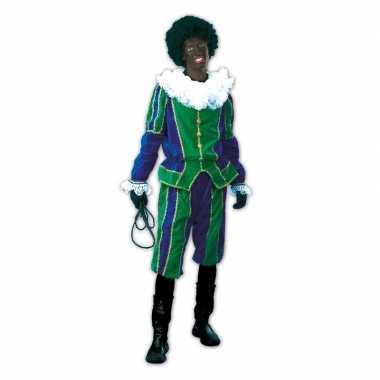 Roetveeg pieten foute kleding groen/blauw voor dames en heren