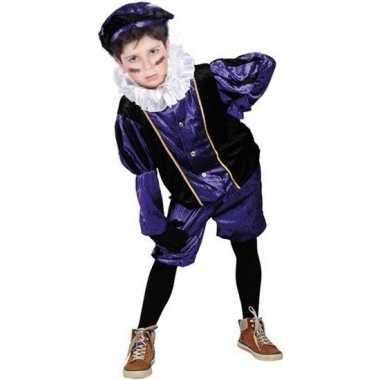 Roetveeg pieten foute kleding paars/zwart voor kinderen