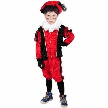 Roetveeg pieten foute kleding rood/zwart voor kinderen