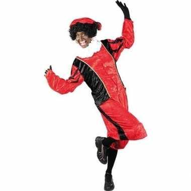 Roetveeg pieten foute kleding rood/zwart voor volwassenen