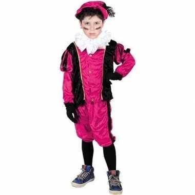 Roetveeg pieten foute kleding roze/zwart voor kinderen