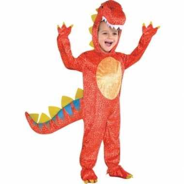 Rood dinosaurus foute kleding voor kids