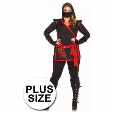 Rood met zwart ninja foute kleding voor dames