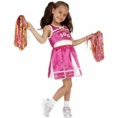 Roze cheerleader foute kleding