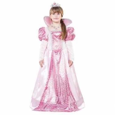 Roze koningin foute kleding voor meisjes