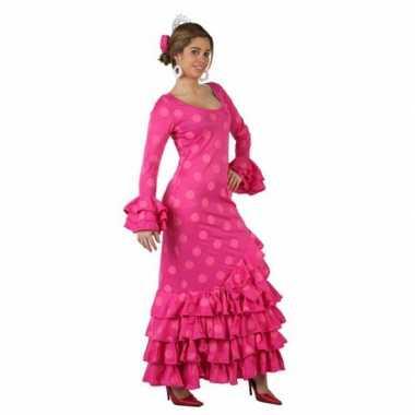 Roze spaanse foute kleding jurk