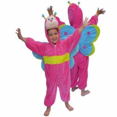 Roze vlinder foute kleding van pluche