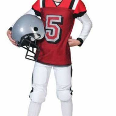 Rugby foute kleding rood met wit voor kids