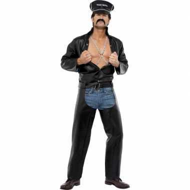 Sexy heren foute kleding motorrijder