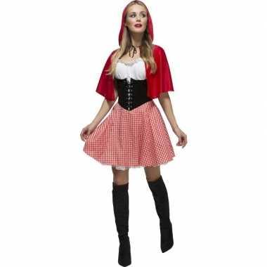 Sexy roodkapje foute kleding/jurkje voor dames