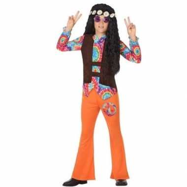 Sixties/hippie foute kleding oranje voor jongens
