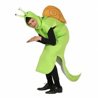 Slak foute kleding groen voor volwassenen