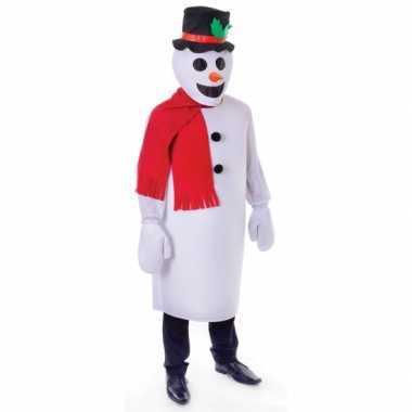 Sneeuw man foute kleding