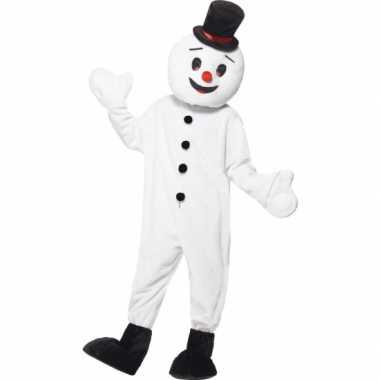 Sneeuwpop mascotte foute kleding