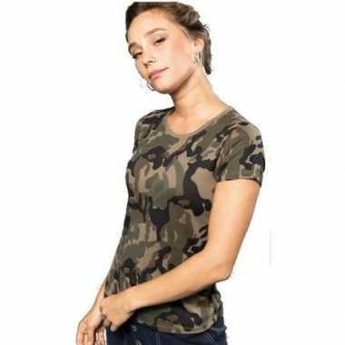Soldaten / leger foute kleding camouflage shirt dames