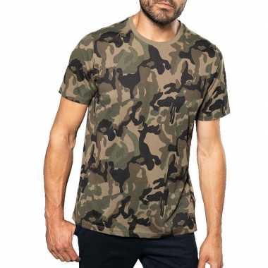 Soldaten / leger foute kleding camouflage shirt heren