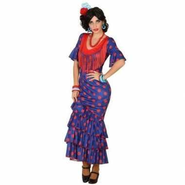 Spaanse flamencodanseres jurk blauw foute kleding voor dames