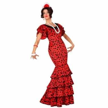 Spaanse flamencodanseres jurk rood foute kleding voor dames