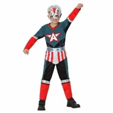 Superheld kapitein amerika pak/ foute kleding voor jongens