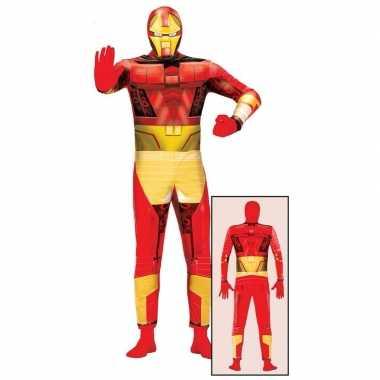 Superheld metalen man foute kleding voor volwassenen