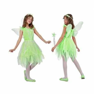 Toverfee/elfje flora foute kleding/jurkje voor meisjes groen